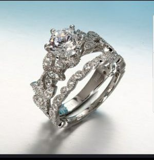 Sapphire Diamond, wedding, engagement, ring set. for Sale in Columbus, OH