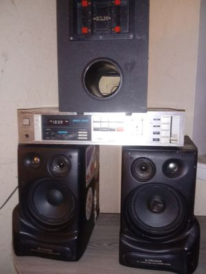 Technics receiver Pioneer speakers and subwoofer for Sale in Columbus, OH