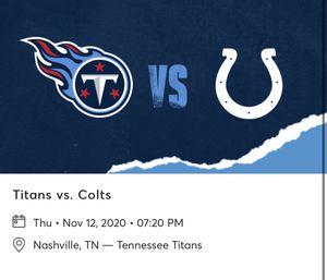 Titans vs Colts for Sale in Murfreesboro, TN