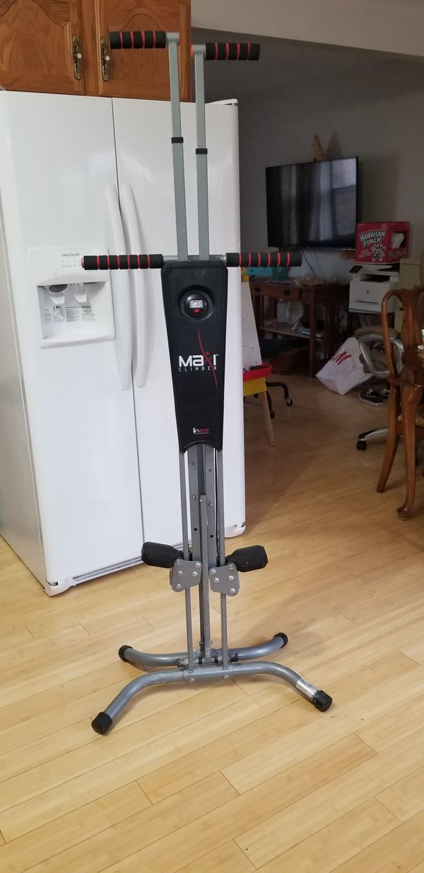 MaxiClimber Classic home workout machine combines muscle toning and cardio in one simple movement. Including: