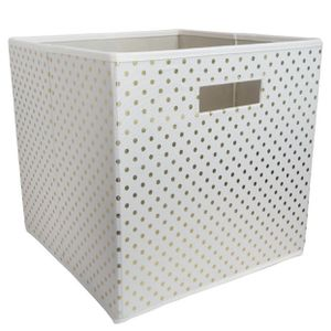 Fabric Cube Toy Storage Bin Gold Dots - Pillowfort for Sale in El Monte, CA