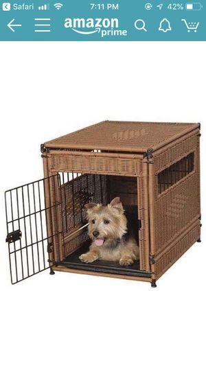 Dark Brown Wicker Crate for Dogs for Sale in Arlington, VA