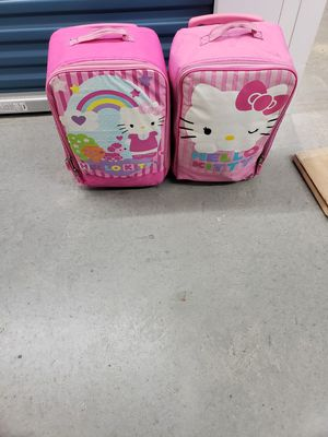 Hello kitty 2 luggage with sleeping bags for Sale in Virginia Beach, VA