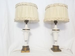 Table Lamp,Shabby Chic Pair of Lamps with Shades vintage lamp for Sale in Chicago, IL