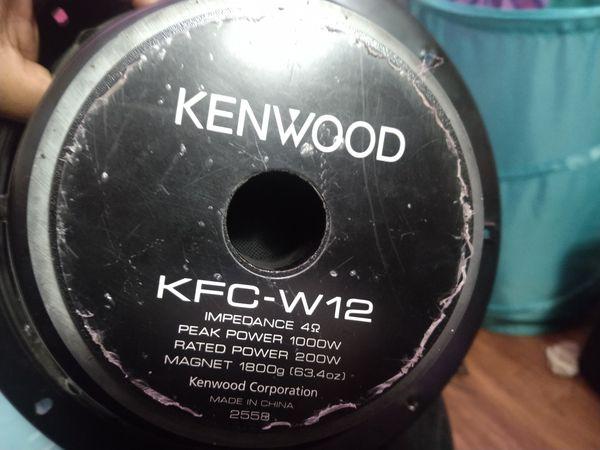 Kenwood 12 inch