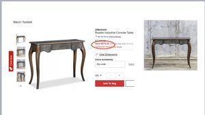 CONSOLE TABLE (UTTERMOST) for Sale in Scottsdale, AZ