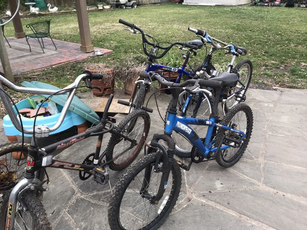 Bicycles Bicycles! Mountain bikes BMX, Hybrids
