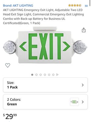New emergency exit light for Sale in Irvine, CA