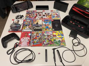 Nintendo switch with accessories and games for Sale in Park City, UT