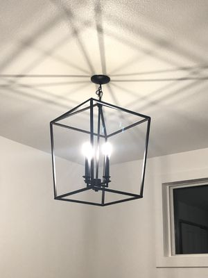 Two Black Iron Chandeliers for Sale in Brier, WA