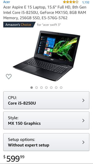 !!!!! ACER ASPIRE E 15 LAPTOP !!!!! for Sale in Tacoma, WA