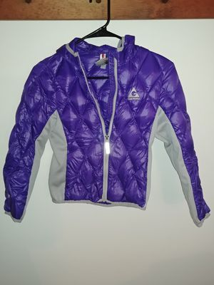 Girls Purple w grey lightweight coat for Sale in Walkersville, MD