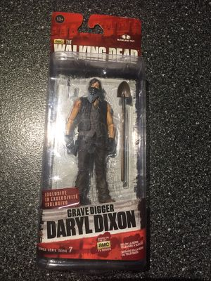GRAVE DIGGER DARYL DIXON 6 inch action figure from THE WALKING DEAD mac tv series collectible figure series 7 mcfarlane toys for Sale in Queens, NY