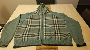 Vintage Burberry zipper Hooded Sweater sz L for Sale in Raleigh, NC