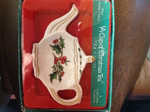 New Fine Bone China Christmas Tea Spoon or Candy caddy by Cup of Christmas Tea for Sale in Poulsbo, WA