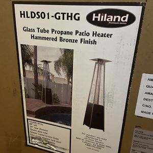 Patio Heaters Hiland HLDSO1-GTHG 91-Inch Pyramid Propane Patio Heater Bronze with wheels. for Sale in Colorado Springs, CO