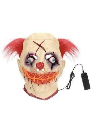 Clown Face Mask Halloween, Latex LED Scary Clown Mask for Sale in Hialeah, FL