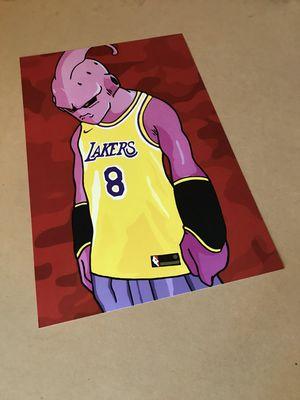 Majin kid Buu x Lakers Kobe jersey 8 Dragon Ball Z Red Camo Custom print for Sale in Santa Monica, CA