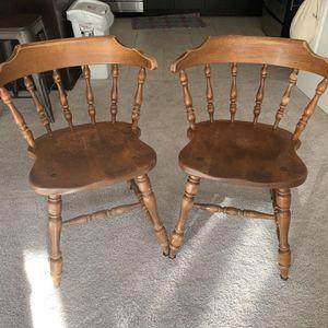 Vintage Wooden Chair Set for Sale in Arlington, VA