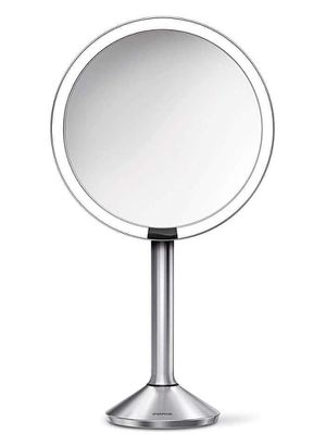 """simplehuman Sensor Lighted Makeup Vanity Mirror Pro 8"""" Round, 5X Magnification Brushed Stainless Steel, Rechargeable and Cordless. for Sale in Fort Worth, TX"""