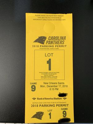 Lot 1 Parking Pass for Sale in Charlotte, NC