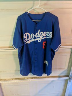 Corey Seager Los Angeles Dodgers Majestic Major League Baseball Authentic Jersey Size 48 With World Series 2017 Patch for Sale in Bakersfield,  CA