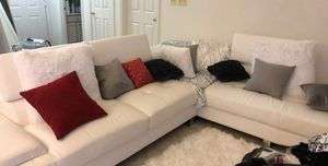 White leather couch a year old no damage never used for Sale in BALTIMORE, MD