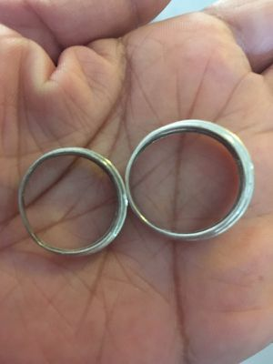 Wedding Bands his/hers size 7 hers and his 11 for Sale in Cutler Bay, FL