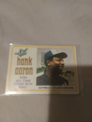 1974 Hank Aaron baseball card for Sale in Wichita, KS