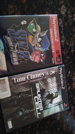 Ps2 games sly2 band of thieves and splinter cell for Sale in Goodyear, AZ