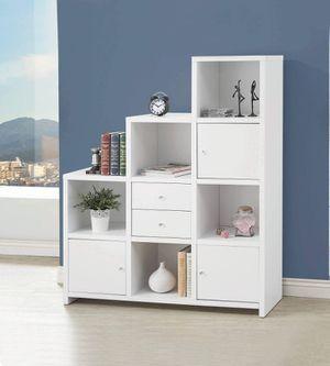 Contemporary White Finish Bookcase Storage Cabinet for Sale in La Verne, CA