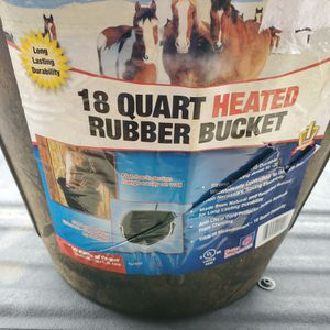 Heated Rubber Water Bucket For Horses for Sale in Fresno, CA