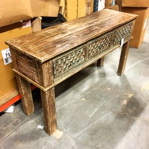 Reclaimed Carved Console Table for Sale in Medley, FL