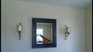2 Gold Painted Metal and glass wall sconce candle holders for Sale in Magna, UT