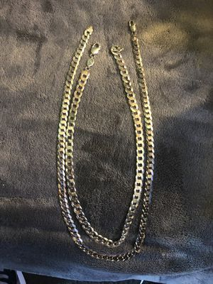 925 Italy real silver chains One size 22 inch the other size 24 inch for Sale in San Diego, CA