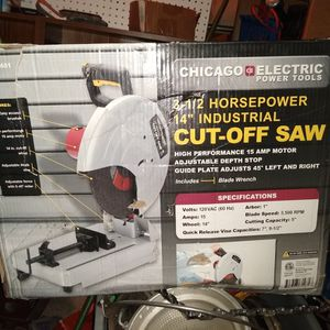 Brand New Cut-off Saw Never Been Used Still In The Box With Clamp To Hold The Material Place for Sale in Mount Vernon, WA