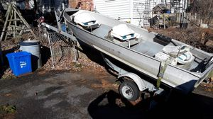 12 Foot Aluminum John Boat and Trailer for Sale in East Providence, RI
