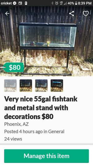 $80 fish tank and stand for Sale in Phoenix, AZ