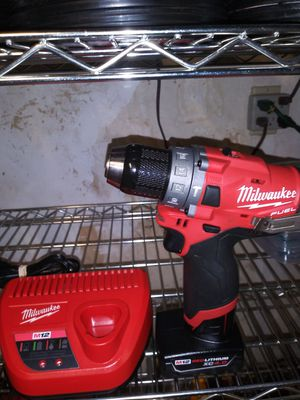 Milwaukee m12 hammer drill with 4.0ah battery and charger for Sale in Grand Terrace, CA