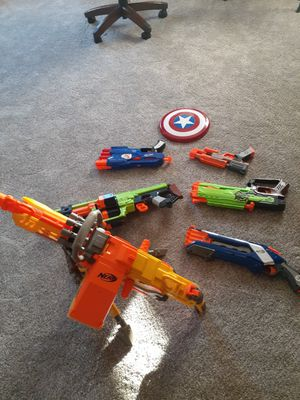 Nerf Weapons and Toy Captain America Shield for Sale in Clackamas, OR