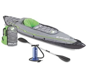Sevylor K5 QuikPak Inflatable 1 Person Kayak Incl Pump Bag Paddle 250lbs NEW for Sale in Warrenville, IL