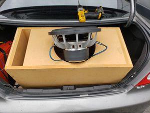 "Old school re audio 12"" sub dual 2 ohm custom ported box orion mtx alpine fosgate skar nvx soundqubed dd fi dc zapco mmats precision power jl for Sale in Santa Ana, CA"