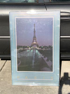 Framed poster Eiffel Tower for Sale in Lehigh Acres, FL