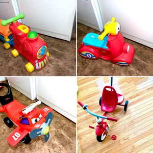 Radio flyer bike and 3 more toys, 2 chairs for Sale in Germantown, MD