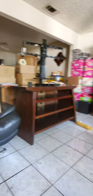 TV stand with built in TV mount and sound at mount. for Sale in Fontana, CA
