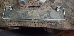 Glass shelf with hardware for Sale in Miami, FL