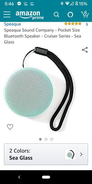 Speaqua Sound Company - Pocket Size Bluetooth Speaker - Cruiser Series - Sea Glass for Sale in Verona, PA