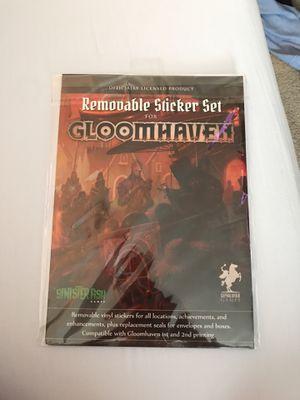 Kickstarter Gloomhaven Removable Sticker Set! Unused! for Sale in Hillsboro, OR