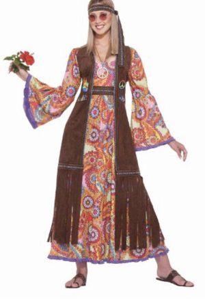 Hippie M-L long dress adult for Sale in Carrollton, TX