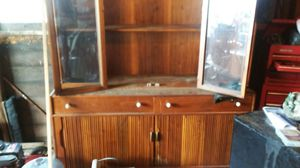 Wood stained China cabinet for Sale in Cleveland, OH